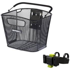 Basil Bold Front Bike Basket Klickfix Holder Included black